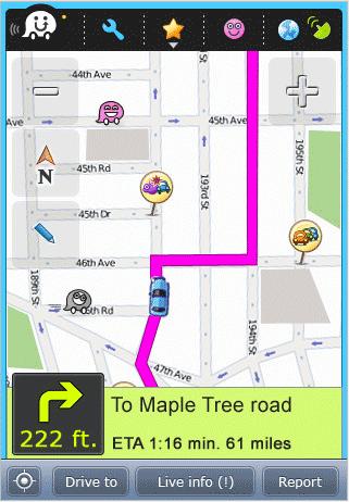 Новая навигационная программа Waze