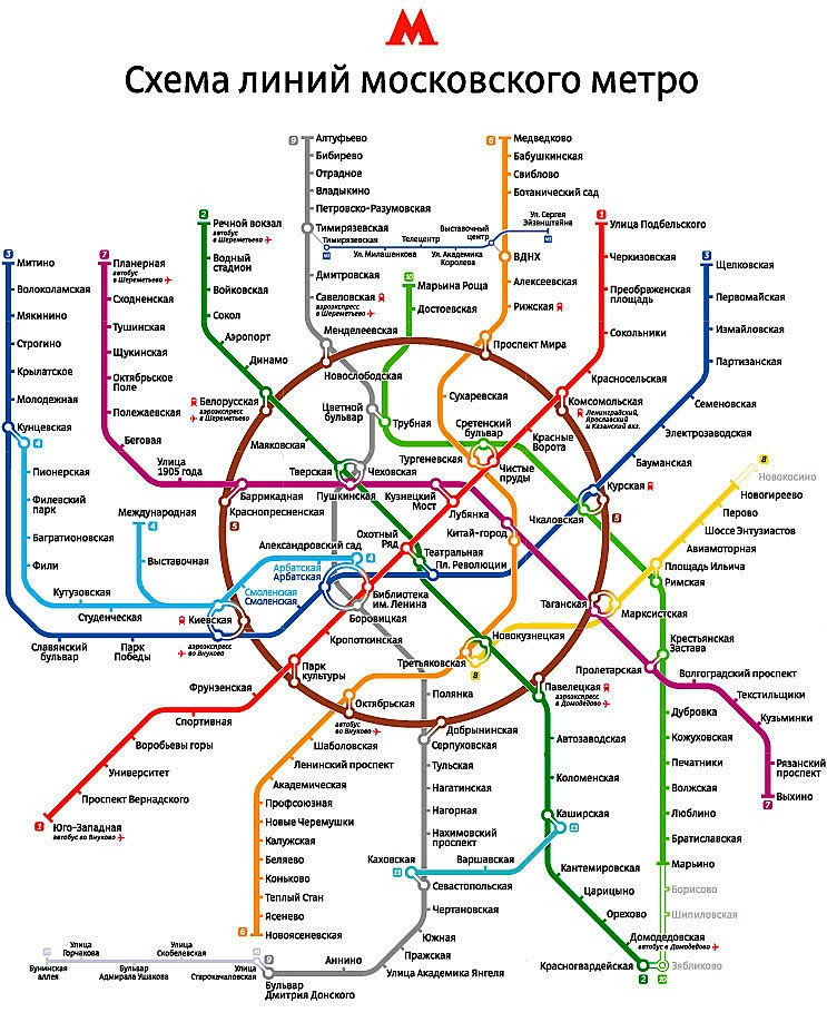 карта метро